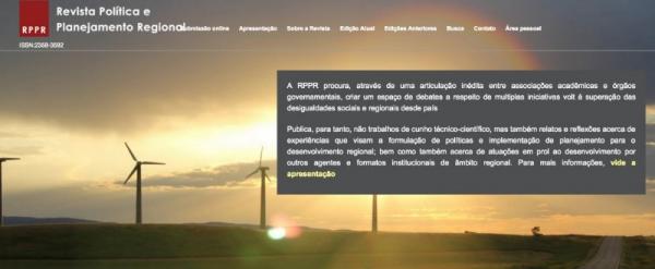 chamada: Revista Política e Planejamento Regional