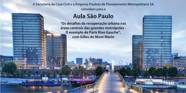 Convite Aula São Paulo com Gilles de Mont Marin