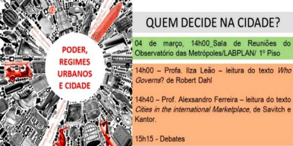Seminário Poder, Regimes Urbanos e a Cidade
