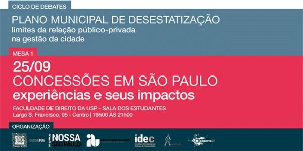 Ciclo de Debates Plano Municipal de Desestatização de São Paulo