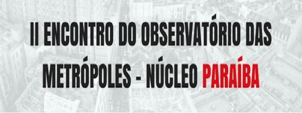 II Encontro do Observatório da Paraíba