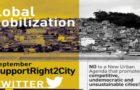 Mobilização Global: pelo Direito à Cidade na Nova Agenda Urbana (HABITAT III)