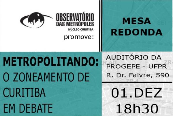 Metropolitando: o zoneamento de Curitiba em debate
