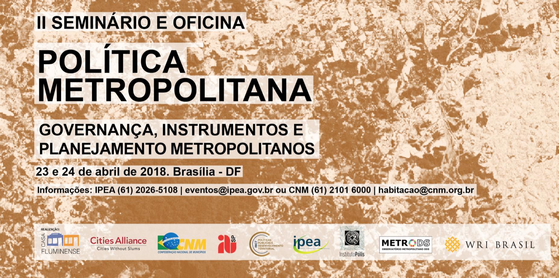 II Seminário Política Metropolitana (IPEA)