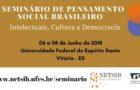 I Seminário de Pensamento Social Brasileiro