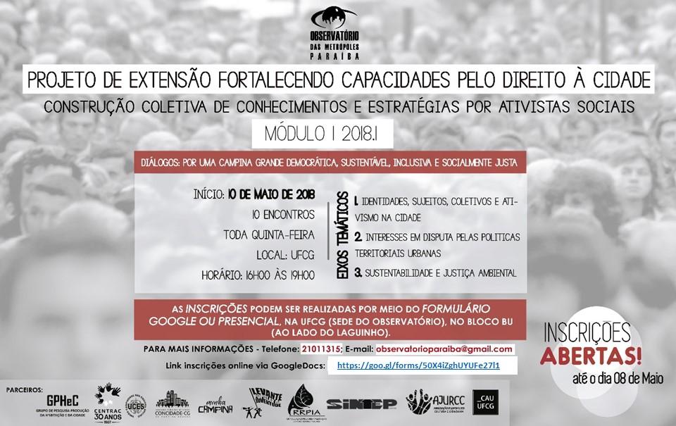 Fortalecendo capacidades pelo Direito à Cidade na Paraíba