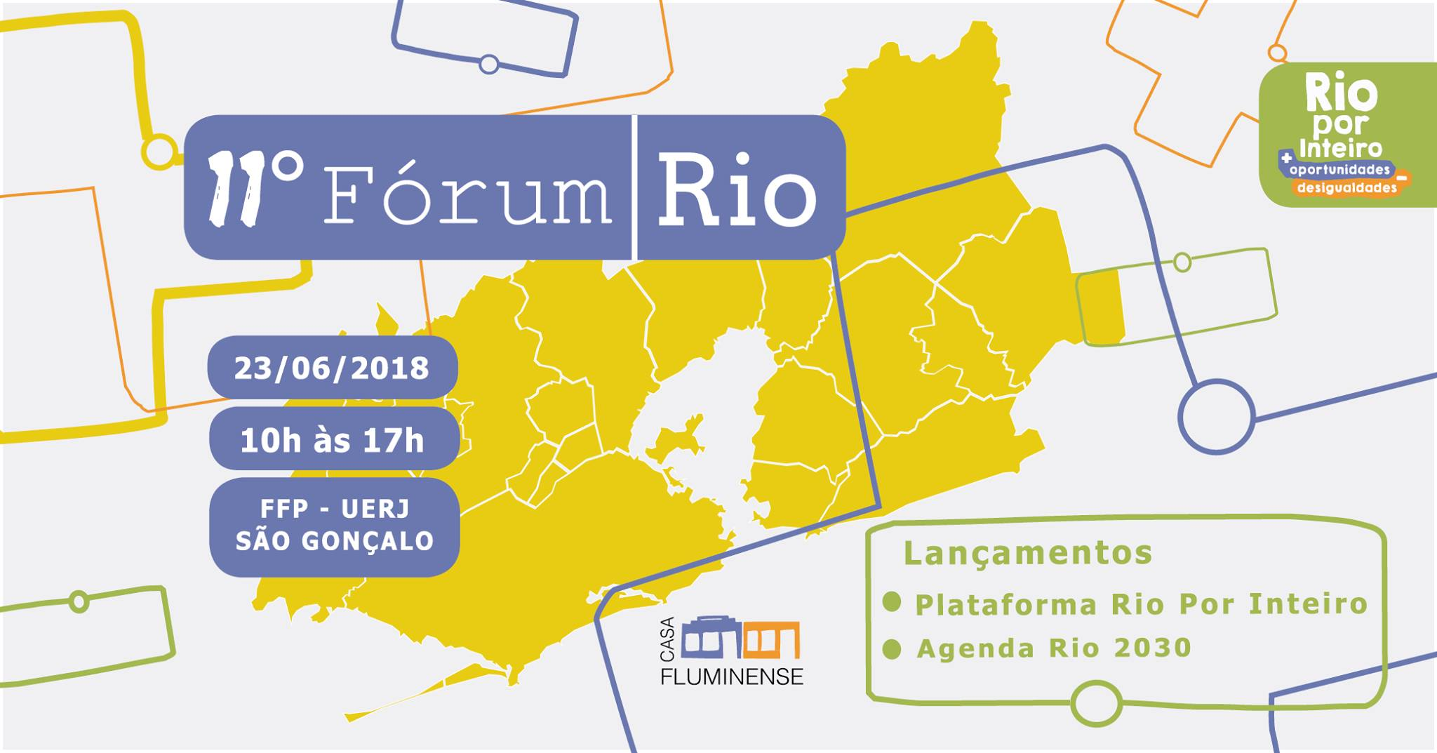 11º Fórum Rio acontece em São Gonçalo em 23 de junho