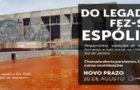 """Chamada Justiça Global """"Do legado fez-se espólio: qual o impacto da era dos megaeventos no Rio?"""""""