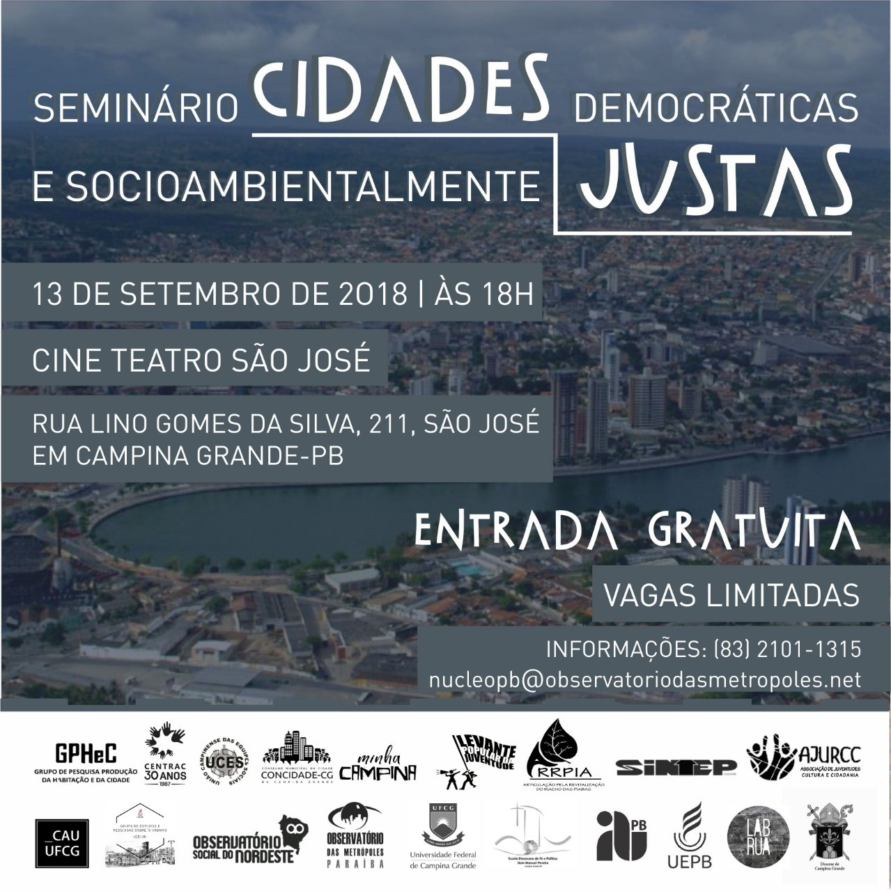 Seminário Cidades Democráticas e Socioambientalmente Justas