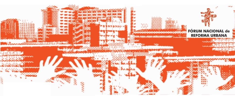 O Fórum Nacional de Reforma Urbana com Haddad