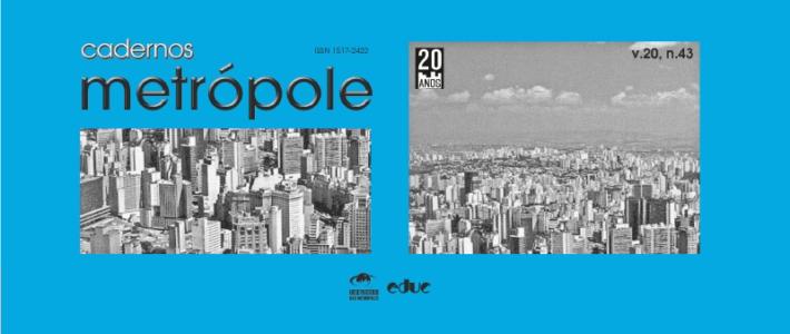 Revista Cadernos Metrópole n.43 destaca as metrópoles no atual padrão de expansão do capitalismo