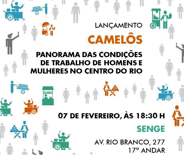 Lançamento do relatório sobre os camelôs do Rio de Janeiro