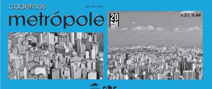 Revista Cadernos Metrópole n.44 destaca as metrópoles no atual padrão de expansão do capitalismo