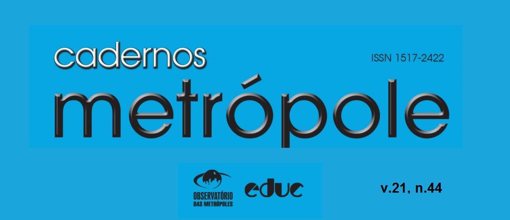 Revista Cadernos Metrópole n.44: as metrópoles no atual padrão de expansão do capitalismo