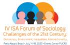 Chamada de trabalhos para o IV ISA Fórum de Sociologia