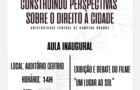 Curso: Construindo perspectivas sobre Direito à Cidade (Universidade Federal de Campina Grande)