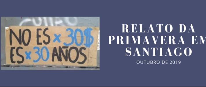 Relato da primavera em Santiago: o outubro de 2019