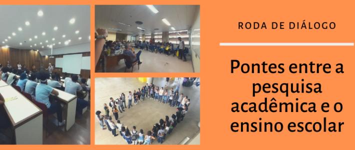 Roda de Diálogo: Pontes entre a pesquisa acadêmica e o ensino escolar