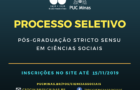 Processo seletivo para mestrado e doutorado em Ciências Sociais da PUC Minas