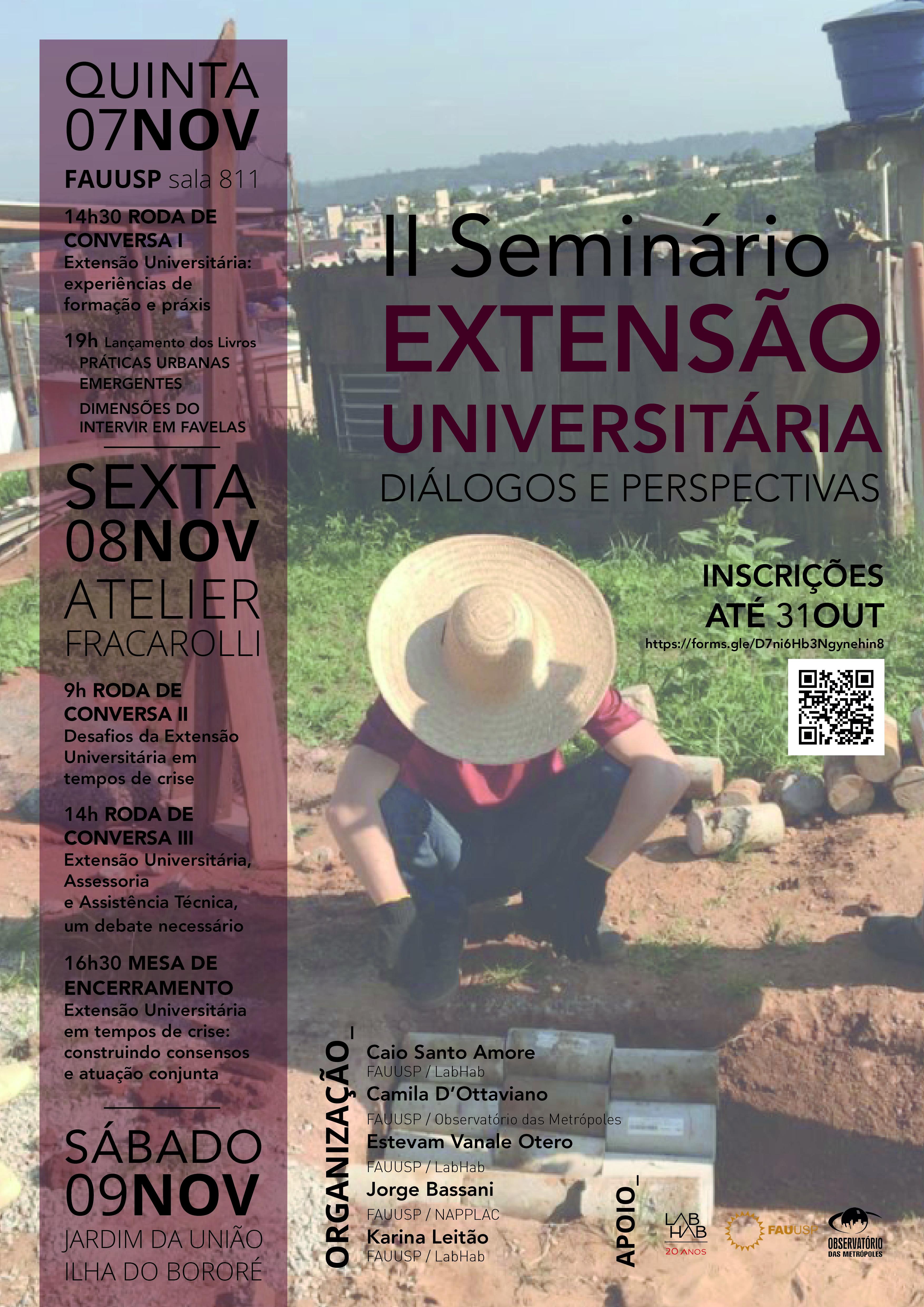 """II Seminário """"Extensão Universitária: diálogos e perspectivas"""""""