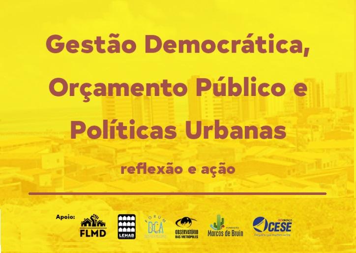 """Início do curso """"Gestão Democrática, Orçamento Público e Políticas Urbanas"""" em Fortaleza"""