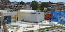 Praça do Conhecimento, no Alemão, construída com recursos do PAC. Reprodução/Prefeitura do Rio