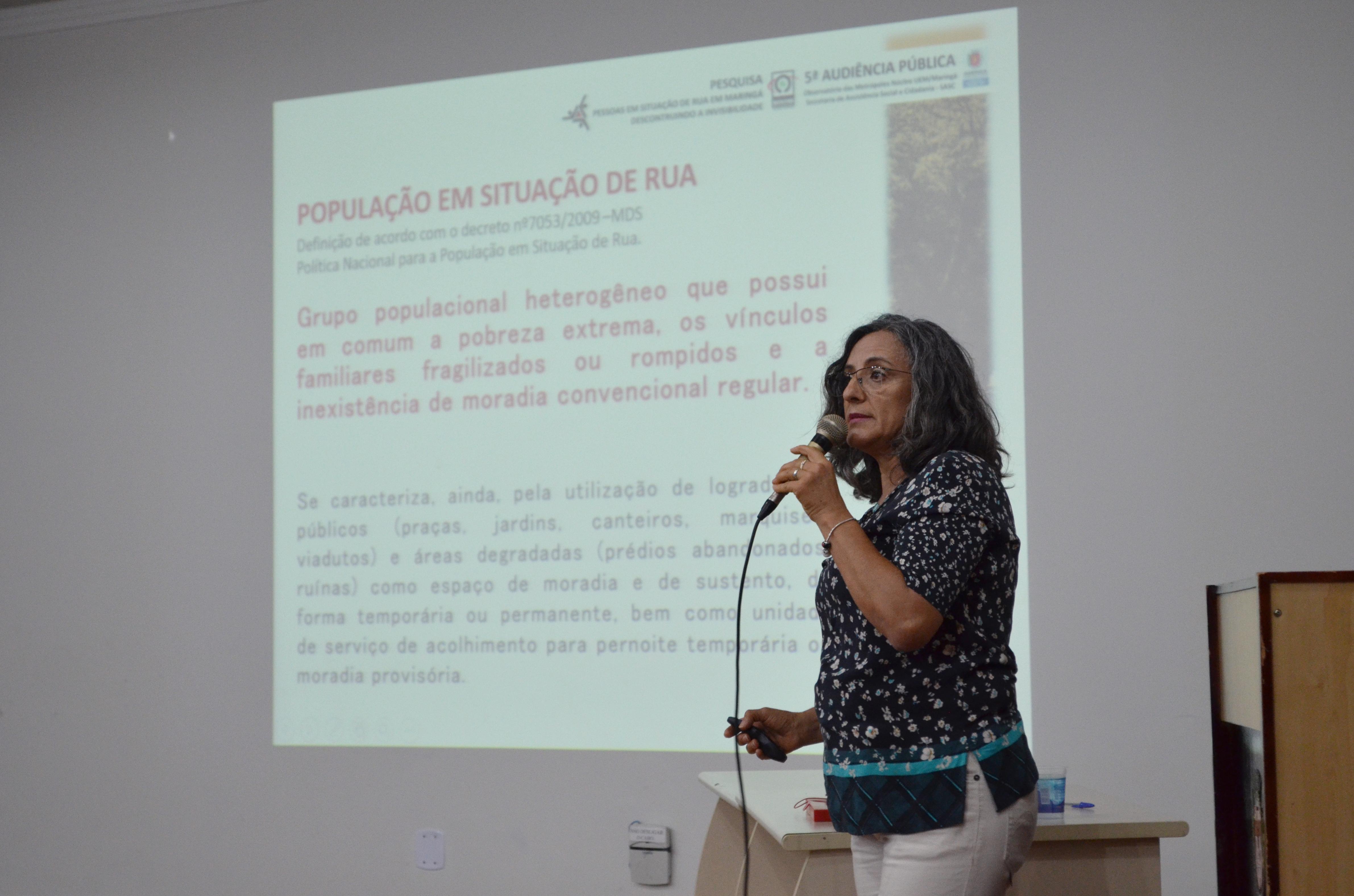 Resultados da pesquisa sobre população em situação de rua em Maringá