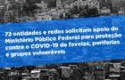 Observatório das Metrópoles subscreve representação junto ao MPF para proteção contra o coronavírus de favelas, periferias e grupos vulneráveis
