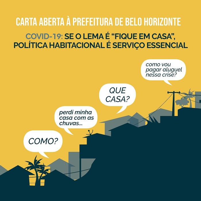 """Se o lema é """"fique em casa"""", política habitacional é serviço essencial"""