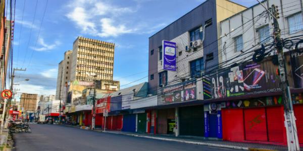Comércio fechado em Natal (RN). Foto: Pedro Vitorino (Jornal Agora RN).
