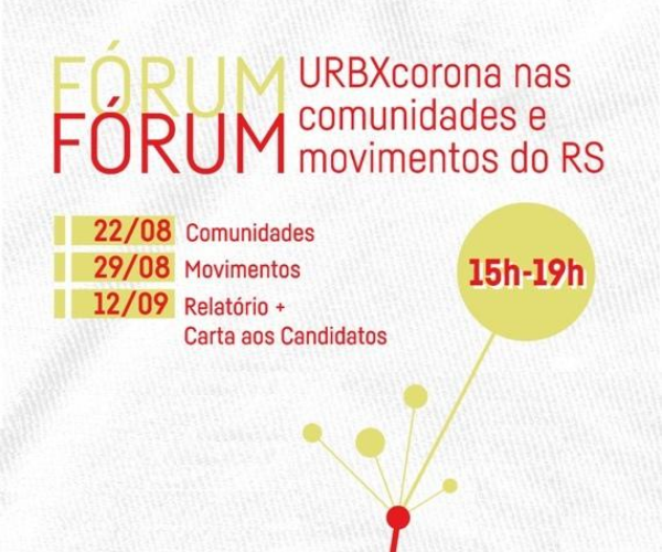 Fórum Urbanismo contra o Corona nas Comunidades e Movimentos do Rio Grande do Sul