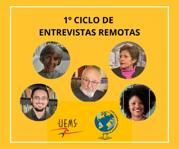 1° Ciclo de Entrevistas do grupo de pesquisa Dinâmicas Territoriais e Espaços Fronteiriços (DITEFRON)