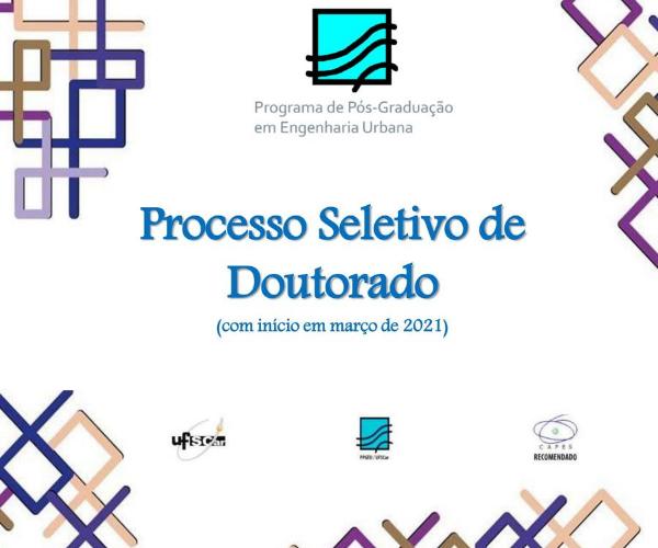 Processo seletivo para o doutorado em Engenharia Urbana da UFSCar