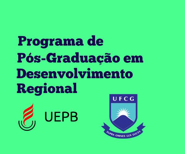 Mestrado em Desenvolvimento Regional – UEPB/UFCG