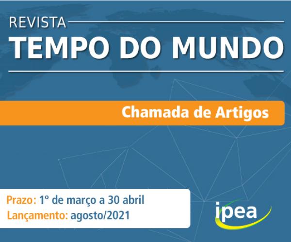 Revista do Ipea recebe artigos sobre políticas públicas comparadas pós-Covid-19