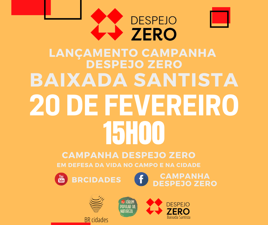 Campanha Despejo Zero – Lançamento Baixada Santista