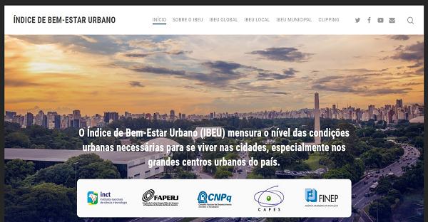Novo site do Índice de Bem-Estar Urbano (IBEU) e da série Transformações na Ordem Urbana