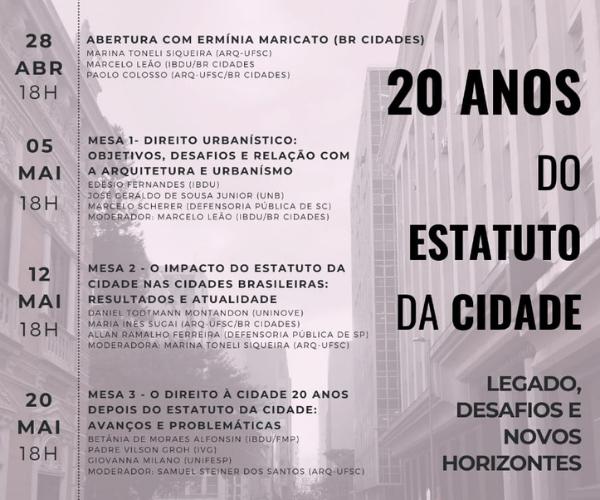 20 anos do Estatuto da Cidade: Legado, desafios e novos horizontes