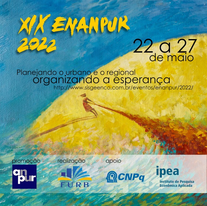 XIX ENANPUR | Planejando o Urbano e o Regional – Organizando a Esperança